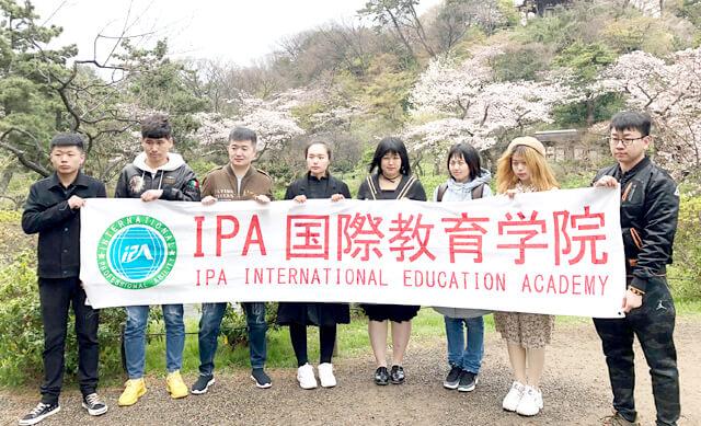IPA国際教育学院 お花見
